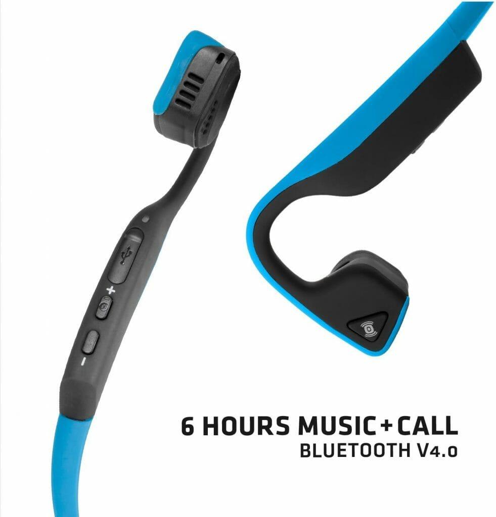 AfterShokz Trekz Titanium Bone Conduction Headphones Battery Life