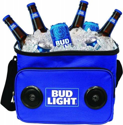Bud Light Soft Cooler Bluetooth Speaker Portable Travel Cooler